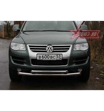 Защита переднего бампера на Volkswagen Touareg VWTG.48.0592