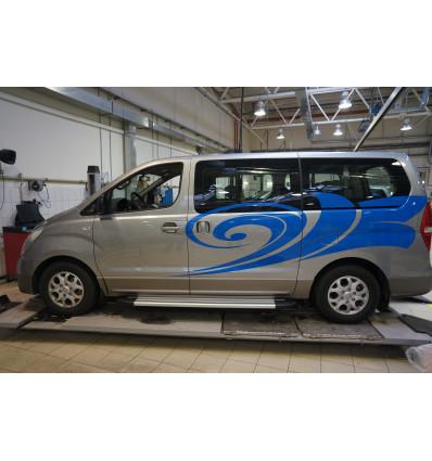 Пороги (Brillant) на Hyundai H1 Starex HYH1.48.1240