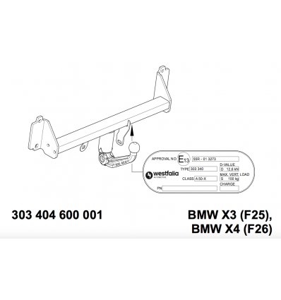 Фаркоп на BMW X4 303404900113