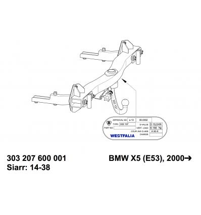 Фаркоп на BMW X5 303207600001