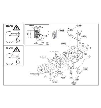 Фаркоп на Toyota Landcruiser 200 424600
