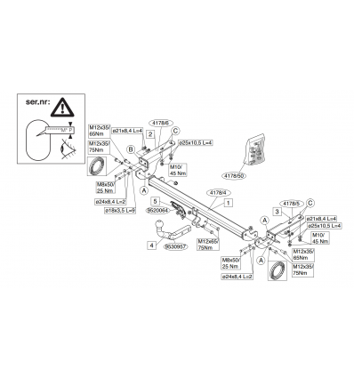 Фаркоп на Citroen C4 417800
