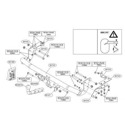 Фаркоп на Citroen C4 Aircross 567200