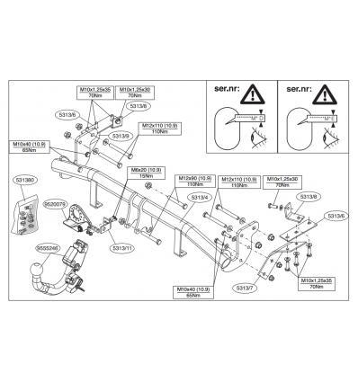 Фаркоп на Citroen C4 Aircross 531300