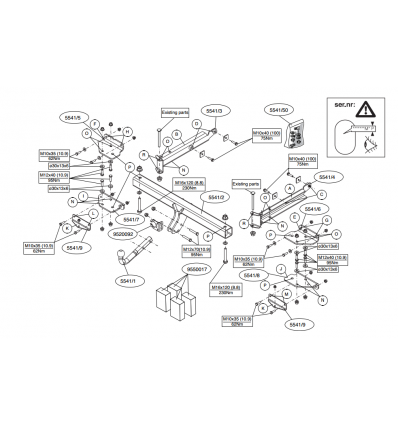 Фаркоп на Mercedes ML W164 554100