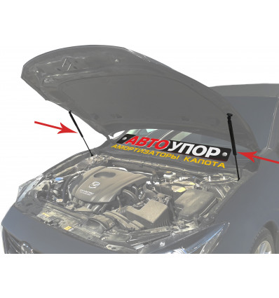 Амортизатор (упор) капота на Mazda 3 UMA3011