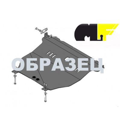 Защита картера двигателя и кпп на Ford Fiesta 03.812.C2