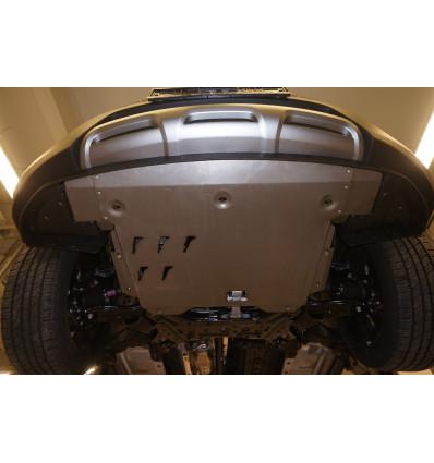 Защита картера двигателя и кпп на Hyundai Santa Fe 10.13ABC