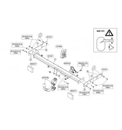 Фаркоп на Audi Q3 551800
