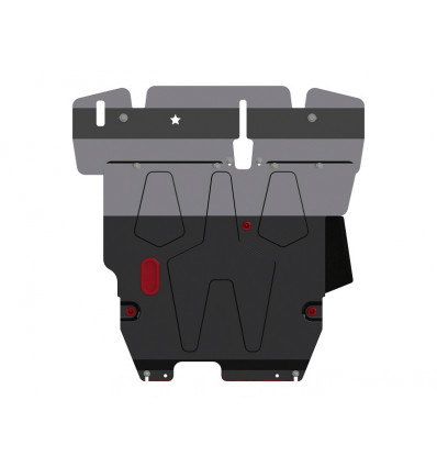 Защита картера и КПП для Mitsubishi Lancer 14.0515