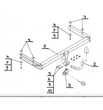 Фаркоп на Audi A6 A-088