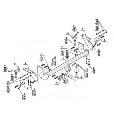 Фаркоп на Citroen C4 AirCross M-302