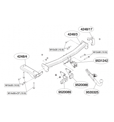 Фаркоп на Land Rover Freelander 424800