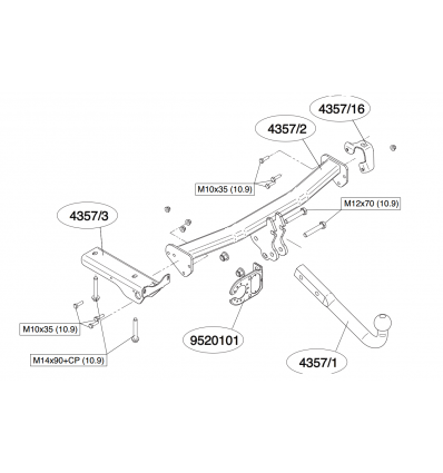 Фаркоп на Land Rover Freelander 435700