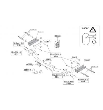 Фаркоп на Renault Clio 568400