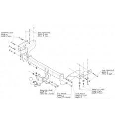 Фаркоп на Citroen C-Crosser 4155C
