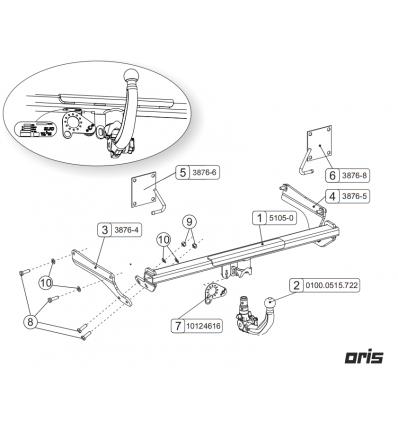 Фаркоп на Mazda 6 051-053