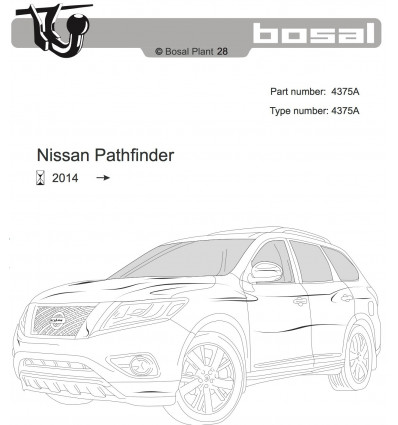 Фаркоп на Nissan Pathfinder 4375A
