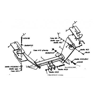 Фаркоп на Honda CR-V 5518A