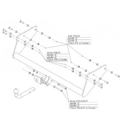 Фаркоп на УАЗ-23602 Карго, UAZ Cargo 6505A