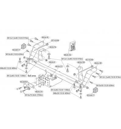 Фаркоп на Ford Ranger 482600