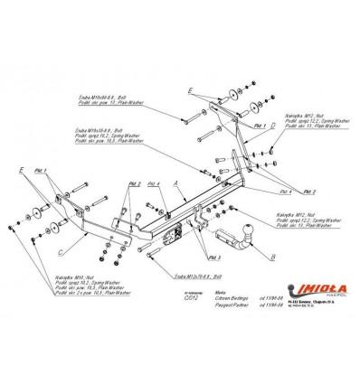 Фаркоп на Citroen Berlingo C/012