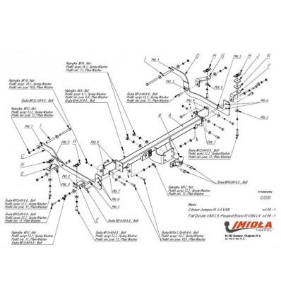 Фаркоп на Citroen Jumper 3 C/030