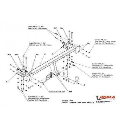 Фаркоп на Chevrolet Lacetti CH/005