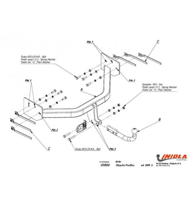 Фаркоп на Chrysler Pacifica CH/024
