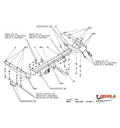Фаркоп на Honda CR-V H/015