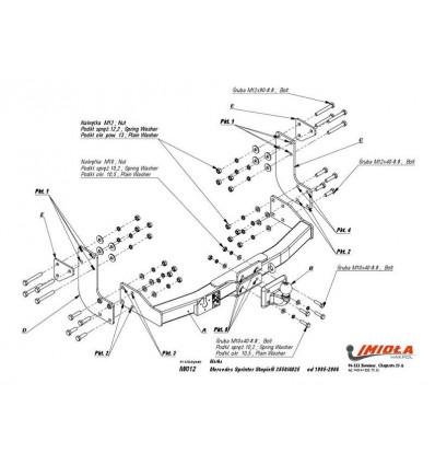 Фаркоп на Mercedes Sprinter M/012