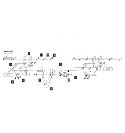 Фаркоп на Mitsubishi Outlander 14.2260.12