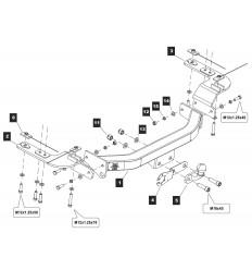 Фаркоп на Toyota Land Cruiser 200 Y-20aS