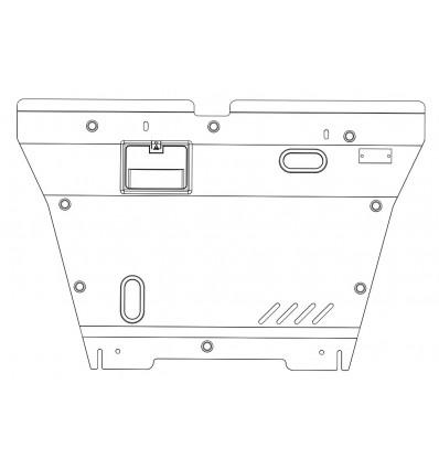 Защита картера и КПП для Hyundai Sonata 10.0834