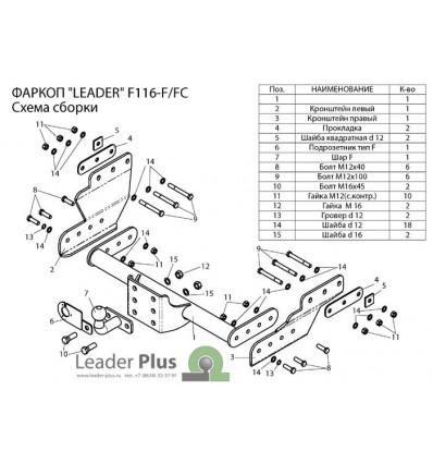 Фаркоп на Ford Transit F116-FC