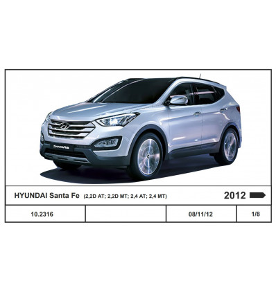 Защита картера и КПП для Hyundai Santa Fe 10.2316