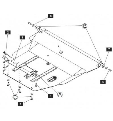 Защита картера на Toyota Picnic 24.0336
