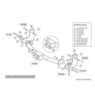 Фаркоп на Volkswagen LT 28,35 293100