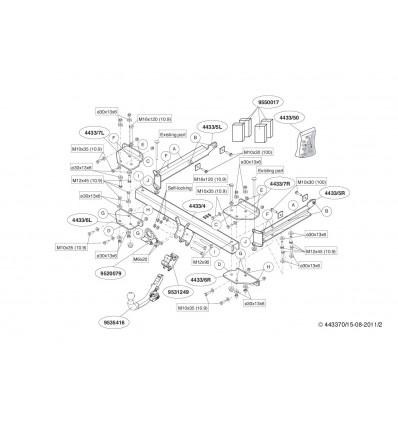 Фаркоп на Mercedes ML 443300
