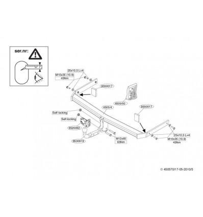 Фаркоп на Volkswagen Passat B6 450500