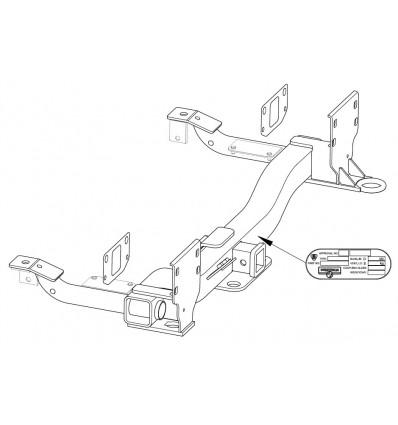 Фаркоп на Land Rover Range Rover 323074600001
