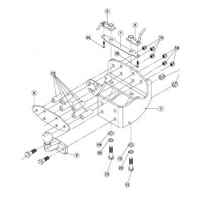 Фаркоп на Toyota Land Cruiser 200 335359600001
