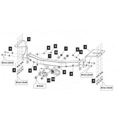 Фаркоп на Toyota Fortuner 24.2588.05