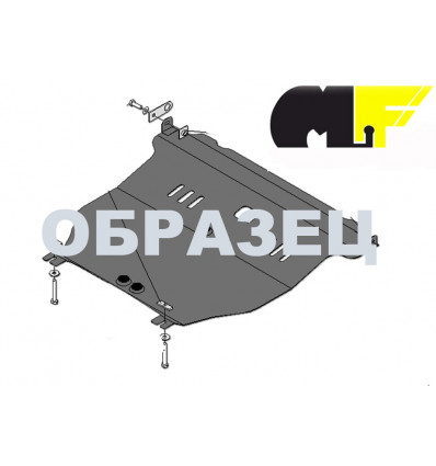 Защита картера и КПП на Audi Allroad  02.0667