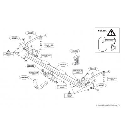 Фаркоп на Ford Tourneo Connect 585900