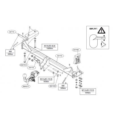 Фаркоп на Land Rover Evogue