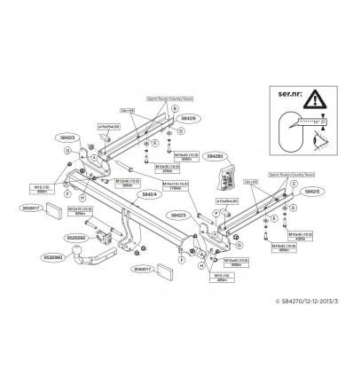 Фаркоп на Opel Insignia 584200