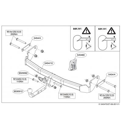 Фаркоп на Jeep Compass 545400