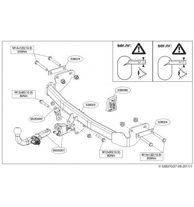 Фаркоп на Jeep Compass 538300