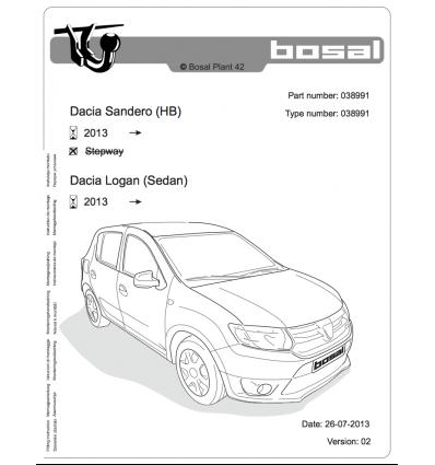 Фаркоп на Renault Logan 038-991